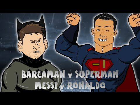Leo Messi fights Cristiano Ronaldo in Barcaman v Suuuuperman (442oons Video)