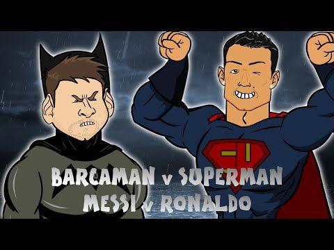 Leo Messi fights Cristiano Ronaldo in Barcaman v Suuuuperman (442oons Video)