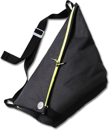 """Cevian messenger bag"" we designed for a Korean leading table tennis company XIOM. Project in co-operation with Vilhelm von Platen."