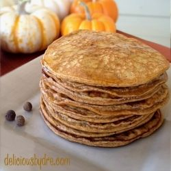 paleo pumpkin protein pancakes by deliciousbydre