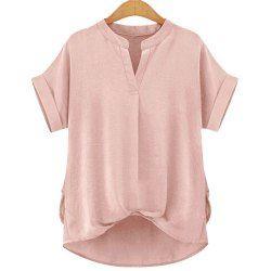 SHARE & Get it FREE | Stylish V-Neck Short Sleeve Linen Blouse For WomenFor…