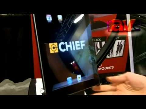 SYNNEX 2012: Chief Shows Chief Dual Monitor Mount With iPad Interface