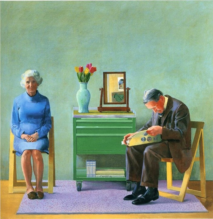 David Hockney My Parents (1977) Oil on canvas 182 x 182 cm