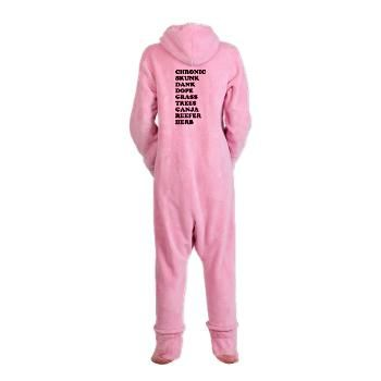 Marijuana Slang Footed Pajamas #chronic #skunk #dank #dope #grass #trees #ganja #reefer #herb #weed #pot #stoner #party #cool #sick #heady #herbal #love #high #happy #stoner #life #live #baked #smoke #daily #blessed #legalize #420GearStop