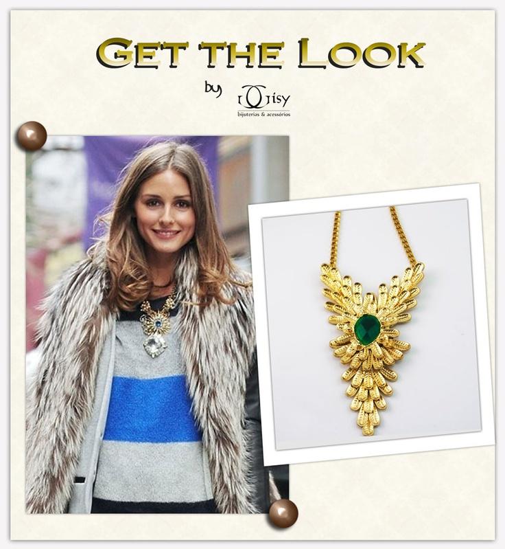 Olivia Palermo | Maxi Colar | maxi necklace | Gisy