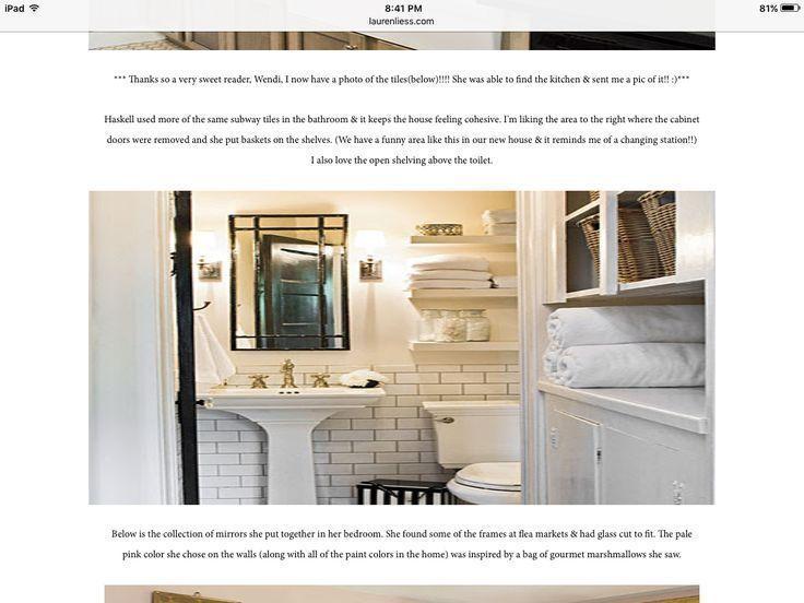 Shelves above toilet painted same colour as wall  – Bathrooms – #Bathrooms #Colo…   – Shelves recipes