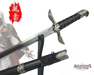 ASSASSINS CREED Cosplay Altair Sword+Sheath+Shelf Collection Metal High Q  Gift