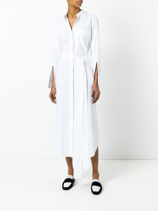 Erika Cavallini  long belted shirt dress