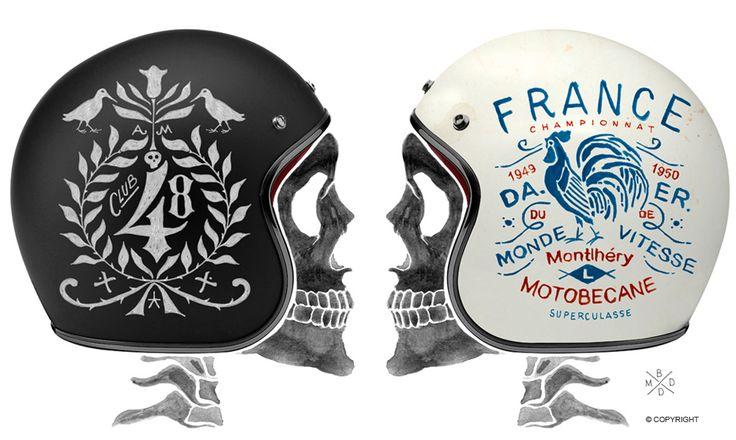 bmd design, scriptohraphie, helmet, casque moto