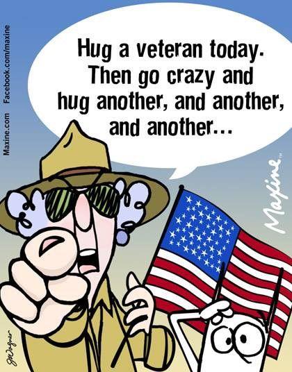 Maxine on hugging Veterans on Veterans' Day