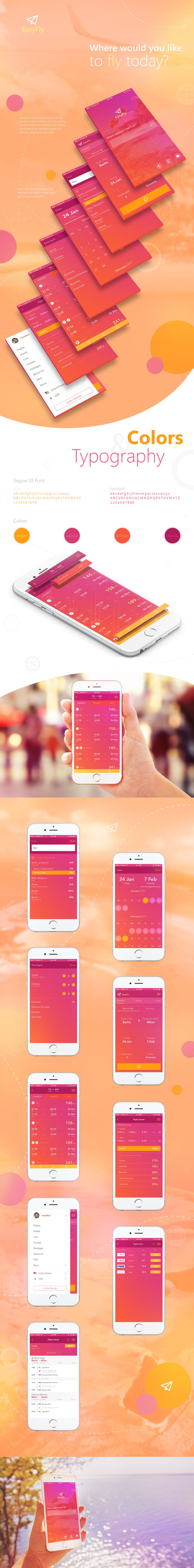 """Check out this @Behance project: """"EasyFly - Airfare search application design"""" https://www.behance.net/gallery/52774649/EasyFly-Airfare-search-application-design"""