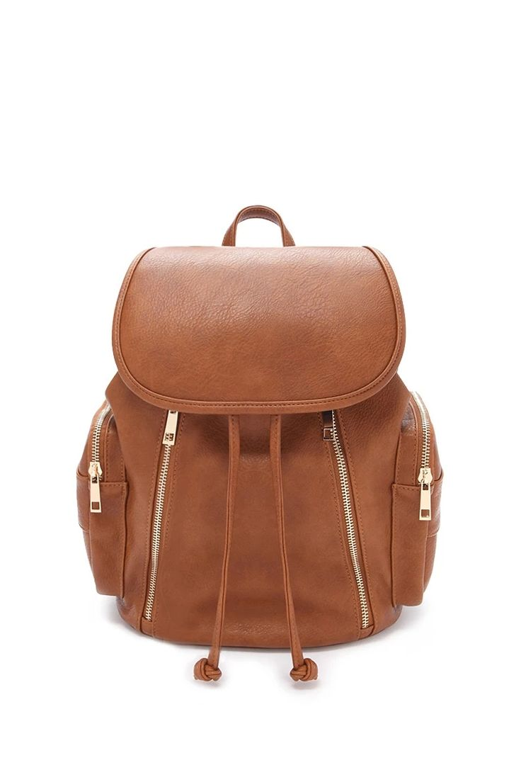 Zippered Faux Leather Backpack #accesorize