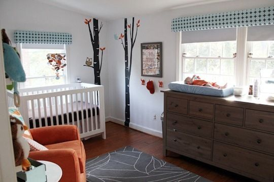 Ethan's Bright Birch Tree Nursery My Room