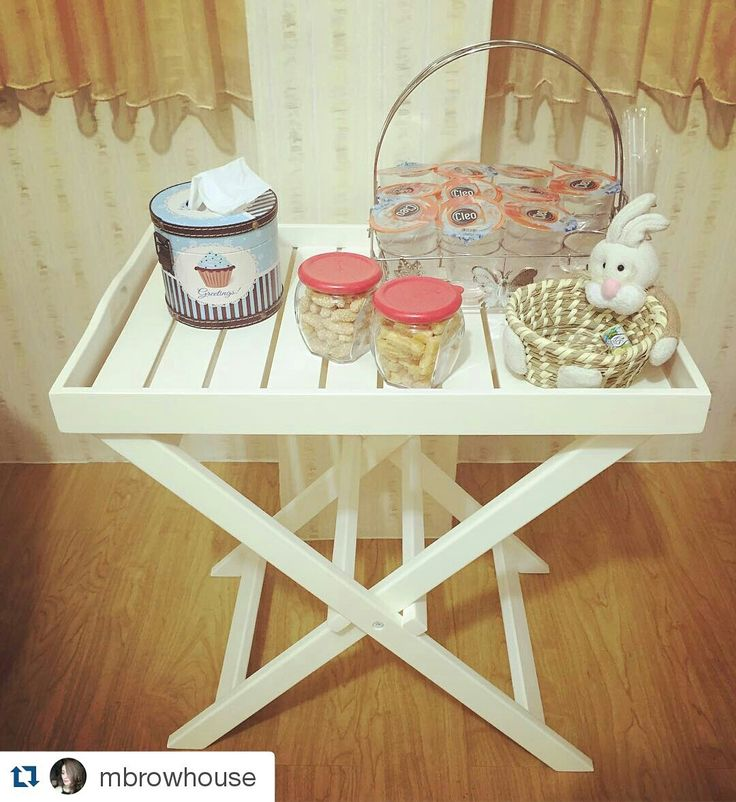 our standing food tray, #unihometestimonial  Size: 60 x 40 x 59 cm