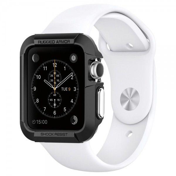 Spigen Apple Watch Case Rugged Armor (42 mm) - schwarz