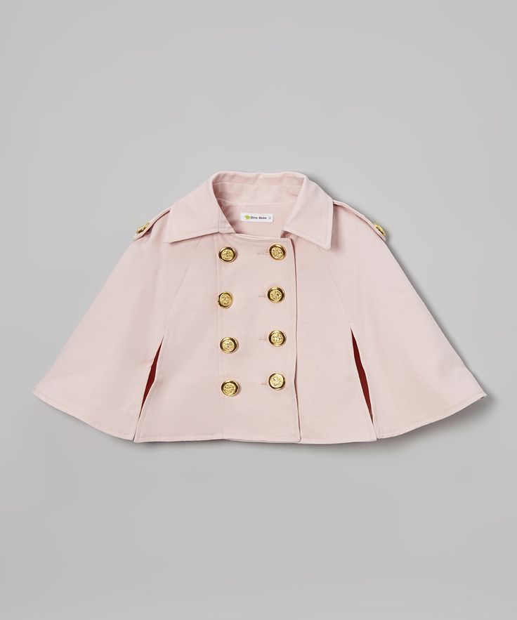 Pink Spring Button Cape - Toddler & Girls   Daily deals for moms, babies and kids
