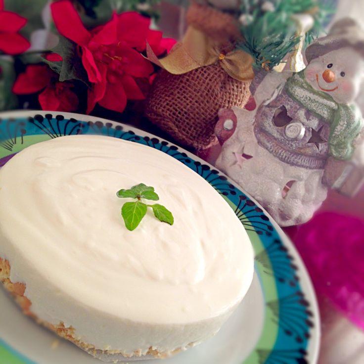 らら's dish photo 水切りヨーグルトでレアチーズタルト   http://snapdish.co #SnapDish #レシピ #生クリームとチーズで楽しく #クリスマス #おやつ #ケーキ
