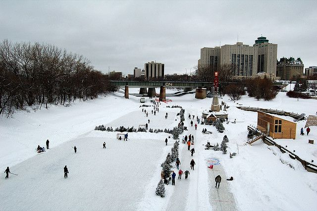 The longest skating rink in Canada is in Winnipeg. The largest is in Ottawa.