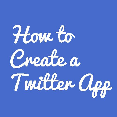 How to create a #Twitter application without any coding