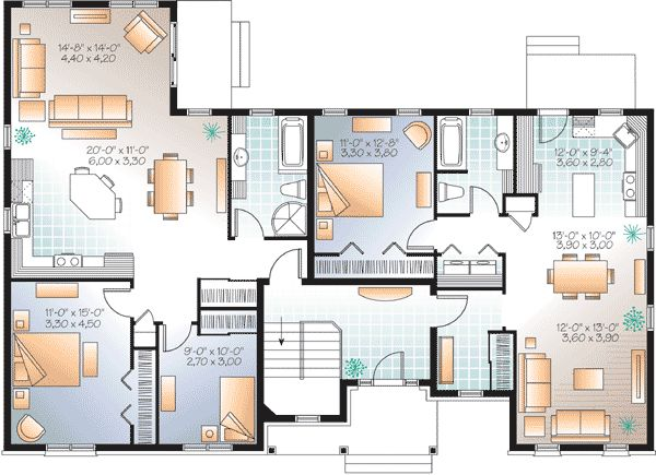 24 best duplex plans images on pinterest family house Multi generational home plans