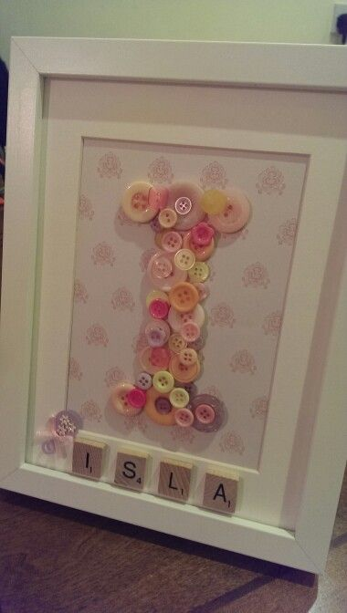 Baby Gifts - Buttons, Scrabble.