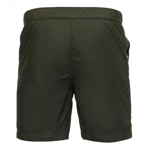 MID-LENGTH BOARDSHORTS WITH ADJUSTABLE WAIST STRAPS Oxford Long lightweight technical fabric Boardshorts with two front pockets, one with zip, fixed waist with adjustable hidden drawstring, adjustable straps at the waist with snaps, flange with logo sewn on the bottom, internal mesh, Robinson Les Bains rubber label sewn inside, snap button fly. COMPOSITION: 100% POLYESTER. Lining: 92% POLYAMIDE, 8% ELASTANE. Our model wears size L, he is 189 cm tall and weighs 86 Kg.