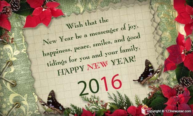 New Year Greetings Messages 2016