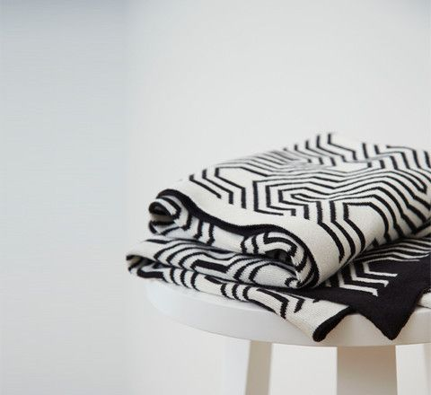 The Minimalist Store / geometric blanket by Kate + Kate styled by Marsha Golemac