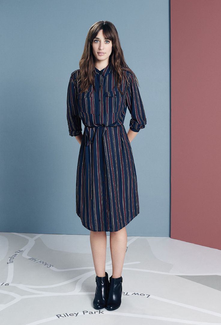 Laura Jackson wears the stripe utility shirt dress #UpMyStreet