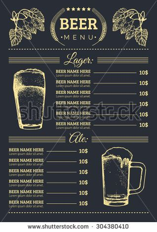16 best beer menu images on Pinterest Beautiful, Beer and Beverage - beer menu