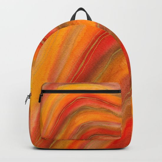 "Our Backpacks are crafted with spun poly fabric for durability and high print quality. Thoughtful details include double zipper enclosures, padded nylon back and bottom, interior laptop pocket (fits up to 15""), adjustable shoulder straps and front pocket for accessories. Dry clean or spot clean only. One unisex size: 17.75""(H) x 12.25""(W) x 5.75""(D)."