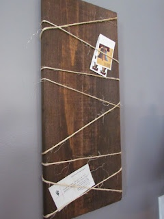 rustic wood memo board