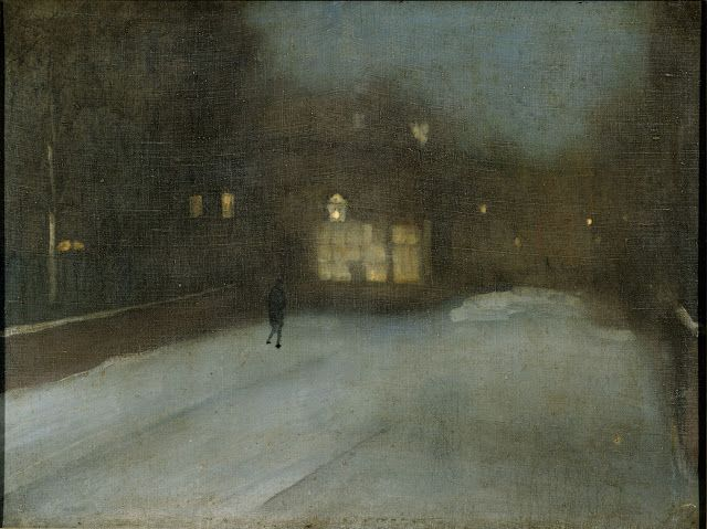 James Abbott McNeill Whistler (1834-1903), Nocturne in Grey and Gold: Chelsea Snow - 1876