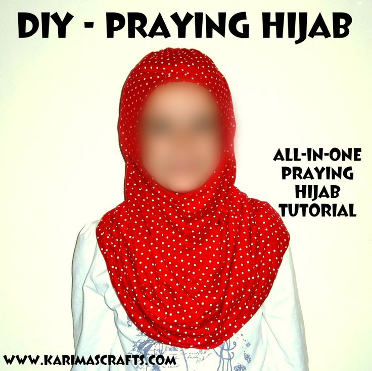 Karima's Crafts: DIY - Praying Hijab Tutorial