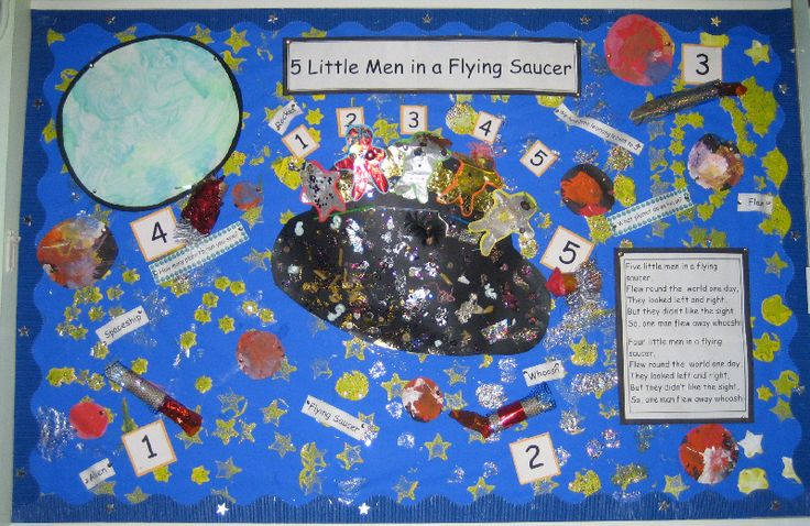 5 Little Men in a Flying Saucer classroom display photo - Photo gallery - SparkleBox