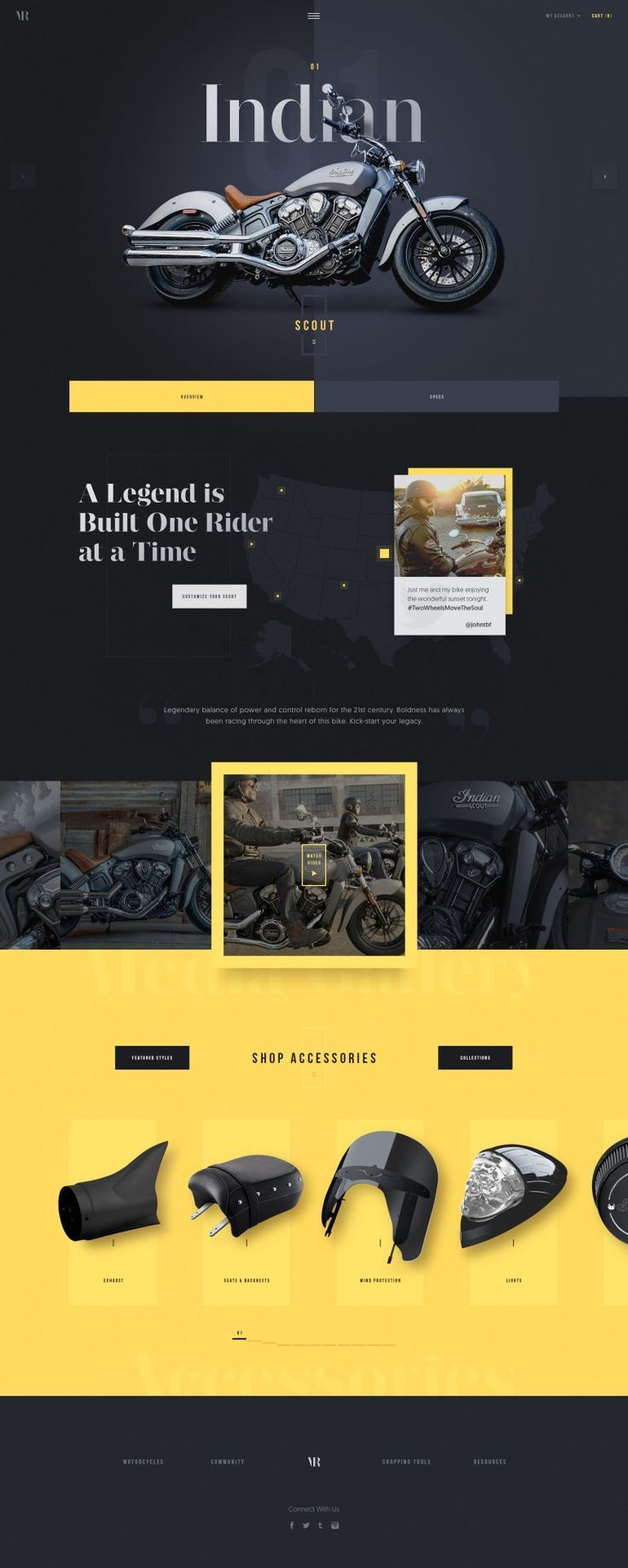 Vintage Rides – Ui design concept layout and visual style.: