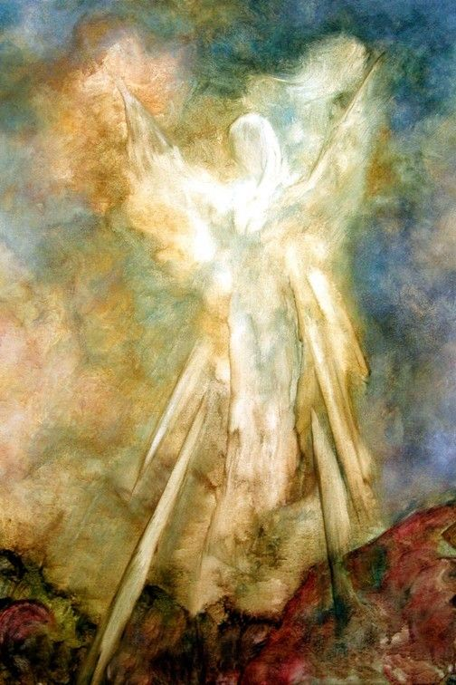 Guardian Angel Art Print, The Appearance, Angel Art by Marina Petro. $35.00, via Etsy.