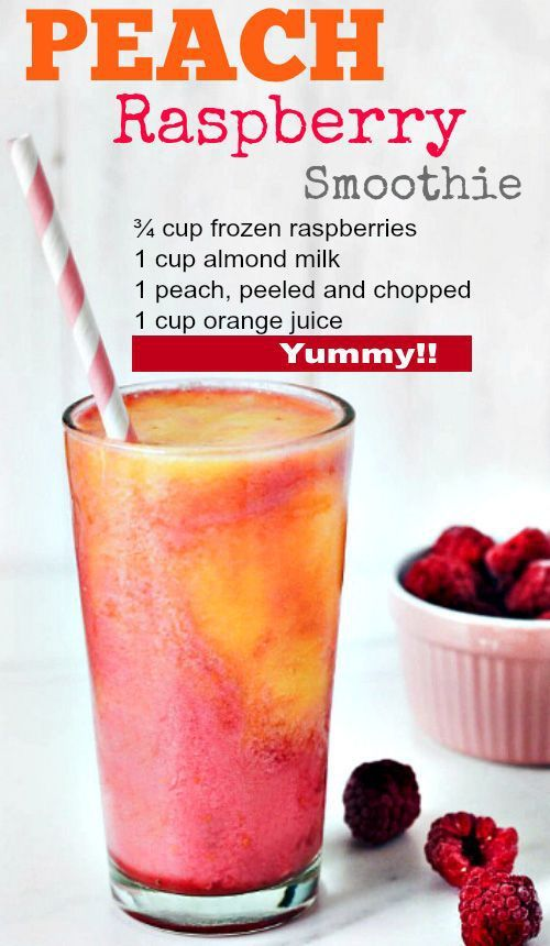 Peach Raspberry smoothie which is low fat and low calories to help with your Wei