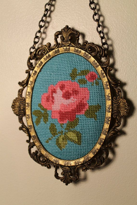 Cross Stitch Pattern Only  Rose Design by PerchedBird on Etsy, £5.50