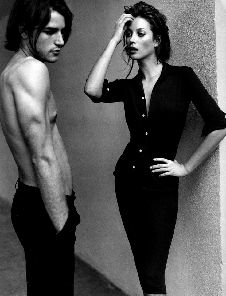 Christy Turlington photographed by Mario Testino for Harper's Bazaar, September 1995.