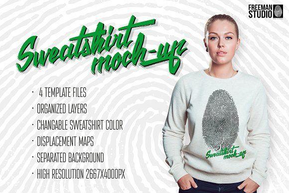 Sweatshirt Mock-Up by Freeman Studio on @creativemarket
