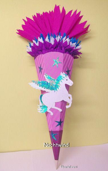 BASTELSET Schultüte Zuckertüte Pegasus von bastel-reni auf DaWanda.com