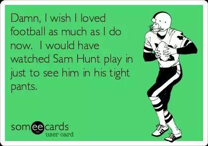 Sam Hunt football meme