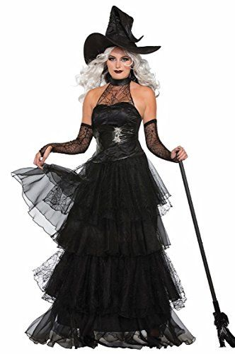 i really like classic womens witch halloween costumes like this one because it is black and - How To Look Like A Witch For Halloween