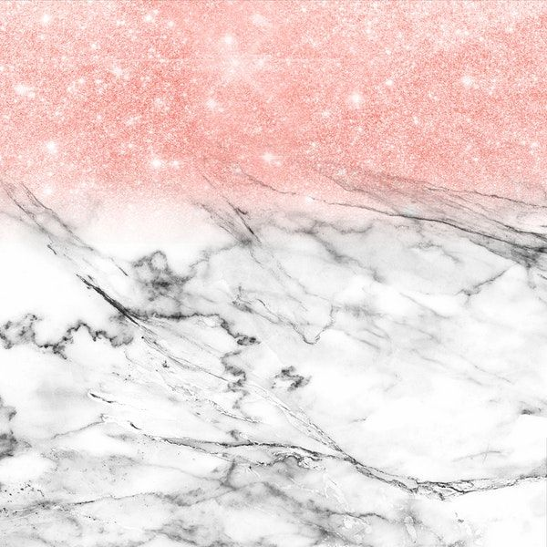 Rose Gold Glitter On Marble Wall Mural Marble Wall Mural Marble Wallpaper Marble Wallpaper Phone