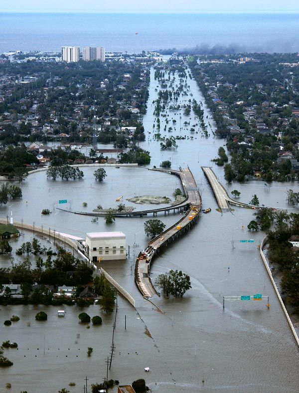 On August the 29th Katrina hit Louisiana, most notably New Orleans where 80% of the city flooded because the flood protection system was breached in more than fifty places. The hurricane caused over  80 billion in damages and over 1800 peoplewere confirmed tohave died with over 700 missing.