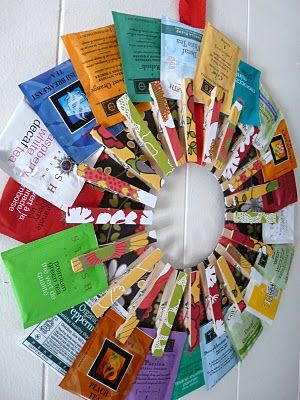 tea wreath - a great simple gift for a tea lover @Ashley Lee I think this would be a good idea for you and your gift giving awesomeness