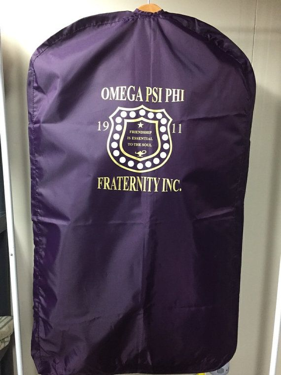 Omega Psi Phi Suit Bag by TheGoldBootCompany on Etsy