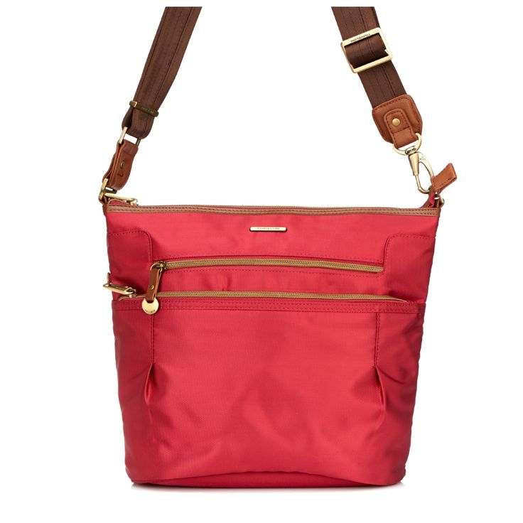 Travelon Anti Theft Bucket Bag with Leather Trim