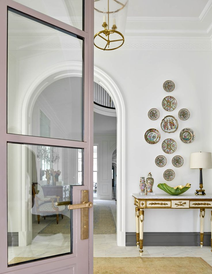 Entry Ways Hallways Stairs Wall Decor Plate Display Quail Marbles Living Room Door Ideas